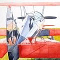 Reflection On Biplane by John Neeve