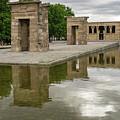 Reflecting On Millennia - Egyptian Temple Of Debod In Madrid Spain  by Georgia Mizuleva