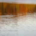 Fall Reflections 6 On Jamaica Pond by Giora Hadar
