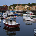 Reflection At Rockport Harbor by Jim Bosch