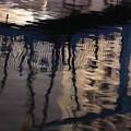 reflection in Eilat marina by Nili Tochner