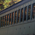 Reflection Of Color Leaves In Train Windows by Dan Friend