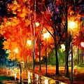 Reflection Of The Night  by Leonid Afremov