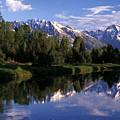Reflection Of The Teton Mountans by Richard Nowitz