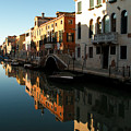 Reflection On The Cannaregio Canal In Venice by Michael Henderson