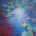 Reflection Pond With Liles by Jyotika Shroff