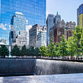 Reflections At 911 Memorial by John Waclo