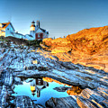 Reflections At Pemaquid Point by Don Mercer