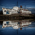 Reflections From The Duke Of Lancaster Ship  by Andrew White