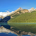 Reflections In The Water At Lake Louise, Canada by Daniela Constantinescu