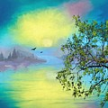 Reflections In Yellow by Joy of Life Art Gallery