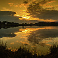 Reflections Of A Sunset by Nick Bywater