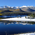 Reflections Of Pikes Peak In Crystal Reservoir by Carol Milisen