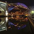 Reflections Of Veterans Memorial Bridge  by Brent Durken