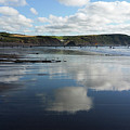 Reflections Of Widemouth Bay by Deborah Brodie