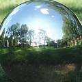 Reflections On A Steel Sphere by Freda Sbordoni