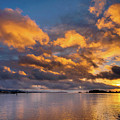 Reflections On Fire Sunset by Greg Nyquist