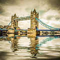 Reflections On Tower Bridge by TK Goforth