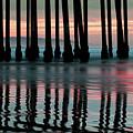 Reflections Under The Pier - Pismo Beach California by Gregory Ballos