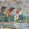 Regatta At Molesey by Alfred Sisley