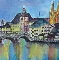 Regensburg At Night by Emily Page