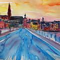 Regensburg Pearl On Danube Germany by M Bleichner