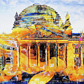 Reichstag And Flower by Nica Art Studio