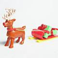 reindeer and Sleigh ii by Helen Northcott