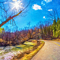 Reluctant Ontario Spring 3 - Paint by Steve Harrington