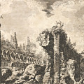 Remains Of The Temple Of Castor And Pollux by Giovanni Battista Piranesi