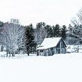 Remote Cabin In Winter by Edward Fielding