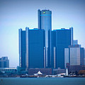 Gm Renaissance Center In Downtown Detroit, Michigan by Anita Hiltz