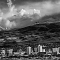 Reno Storm Black And White by Rick Mosher