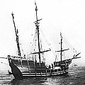 Replica Of Columbus's Nina by Underwood Archives