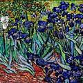 replica of Van Gogh irises by Pemaro