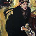 Reproduction Of Degas-portrait Of Mary Cassatt by Michelle Winnie