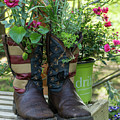 Repurposed Cowboy Boots by Jerry Gammon