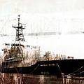 Research Vessel Atlantis In Astoria Oregon by Carol Leigh