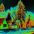 Residential Spokane In Cosmic Winter by Ben Upham III