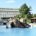 Resort With Swimming Pool Summer Vacation Scene by Goce Risteski
