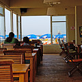 Restaurant On A Beach In Tel Aviv Israel by Zal Latzkovich