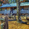 Restored Log Cabin by John Myers