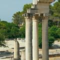 Restored Roman Columns In Glanum by Jaroslav Frank