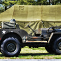 Restored Willys Jeep And Tent At Fort Miles by Bill Swartwout Fine Art Photography