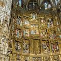 Retable - Toledo Cathedral - Toledo Spain by Jon Berghoff