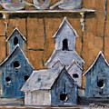 Retired Bird Houses By Prankearts Fine Arts by Richard T Pranke