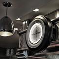 Retro 50's Clock Restaurant  by Chuck Kuhn