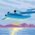 Retro Airliner Flying  by Aloysius Patrimonio