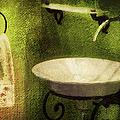 Retro Bathroom Grunge by Georgiana Romanovna