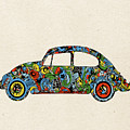 Retro Beetle Car 3 by Bekim Art